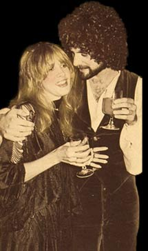 Lindsey and Stevie at a party